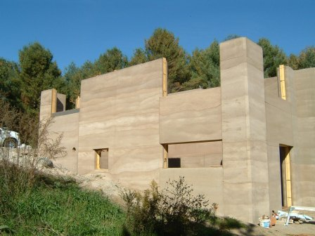 Properly done Rammed Earth.
